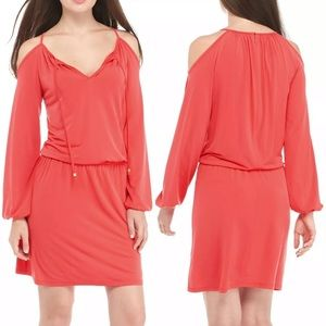 MICHAEL Michael Kors Sangria Cold Shoulder Dress M